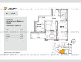 Platinum Residence, 2 camere, structura mare